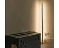 QAZQA Lámpara de pie LINE-UP LED cromo