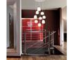 Steinhauer Lámpara colgante moderna acero cristal con LED 9 luces - MIKA
