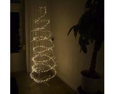 Kaemingk Árbol de Navidad ESPIRAL intermitente LED blanco cálido 1,8 metros