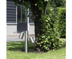 QAZQA Baliza para jardin SOLO 2 ajustable 35 acero
