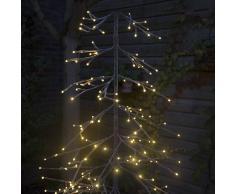 Kaemingk Árbol de Navidad AVETO nieve LED blanco cálido 1,65 metros