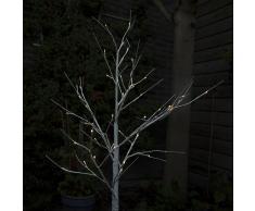 Kaemingk Árbol de Navidad ABEDUL nieve LED blanco cálido 1,25 metros