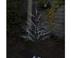 Kaemingk Árbol de Navidad NIEVE LED blanco cálido 1,25 metros