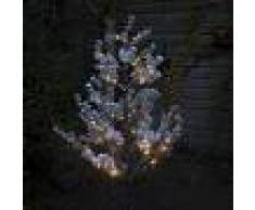 Kaemingk Árbol de Navidad PINO nieve LED blanco cálido 1,5 metros