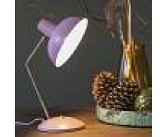 QAZQA Lámpara de mesa rosa con bronce - MILOU