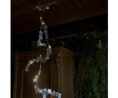 Kaemingk Luces de Navidad RAMA PINO nieve LED blanco cálido 1,5 metros
