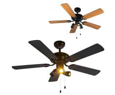 QAZQA Ventilador de techo MISTRAL 42 negro-madera