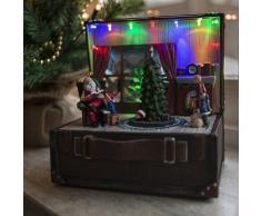 Kaemingk Casa navideña CAJA DE MÚSICA LED multicolor