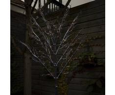 Kaemingk Árbol de Navidad ESPALDERA nieve LED blanco cálido 2 metros