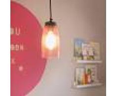 QAZQA Lámpara colgante MASONS rosa pastel