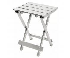 Camp Gear Mesita/taburete plegable aluminio gris 60 kg 1404354