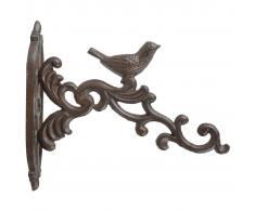 Esschert Design Gancho de cesta colgante marrón hierro fundido BR21