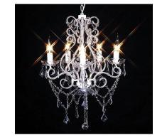 vidaXL Lámpara de araña con 2800 cristales E14