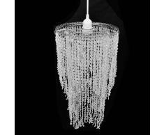 vidaXL Lámpara colgante elegante con cristales, 26.5 x 50 cm
