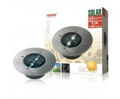 Ranex SMARTWARES Foco solar redondo 0,12 W plateado 5000.197