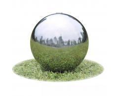 vidaXL Fuente decorativa de tipo bola con leds para jardín,