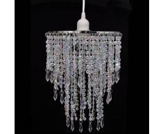 vidaXL Lámpara colgante elegante con cristales, 22.5 x 30.5 cm