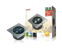 Ranex SMARTWARES Foco solar cuadrado 0,12 W plateado 5000.198