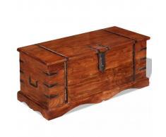 vidaXL Baúl de almacenamiento madera maciza