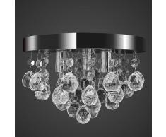 vidaXL Lámpara de techo cristal diseño cromado