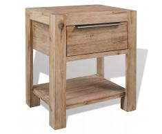 vidaXL Mesita de noche madera maciza acacia 40x30x48 cm