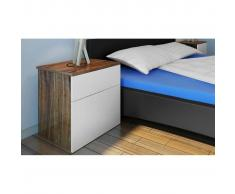 vidaXL Mesilla de noche con un cajón Mesa dormitorio Armario
