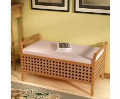 vidaXL Banco de almacenamiento madera maciza nogal 93x49x47 cm