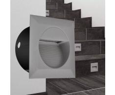 vidaXL Foco LED cuadrado empotrable para escaleras 126 x 65,5 mm