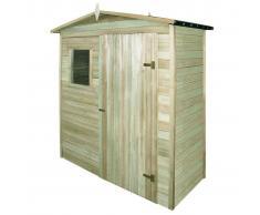 vidaXL Caseta de almacenaje jardín madera pino 200x100x210 cm