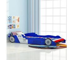 vidaXL Cama con forma de coche carreras para niños 90x200 cm azul
