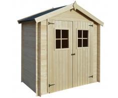vidaXL Caseta de exterior para el jardín 2x1m madera 19mm
