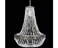 vidaXL Lámpara colgante elegante con cristales, 36.5 x 46 cm