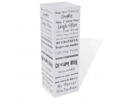 vidaXL Paragüero de color blanco, cuadrado acero, 48.5 cm, guarda bastones