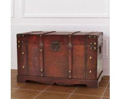 vidaXL Baul de madera estilo antiguo, modelo cofre tesoro