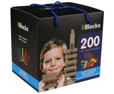 BBlocks Tablones de construcción 200 uds madera multicolor BBLO890102