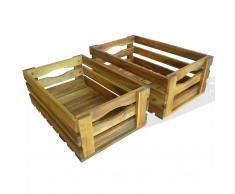 vidaXL Caja de manzanas jardín para plantar madera acacia