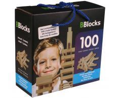 BBlocks Tablones de construcción 100 piezas madera marrón BBLO890100