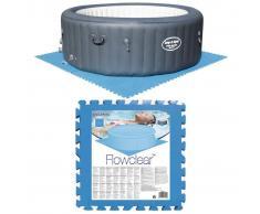 Bestway Protectores de suelo piscina 8 piezas azul 58220