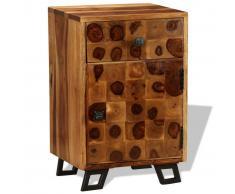 vidaXL Mesita de noche madera maciza sheesham 37x30x54 cm
