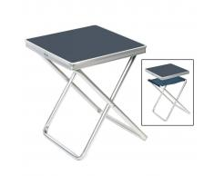 Camp Gear Taburete plegable de camping aluminio gris 1404346