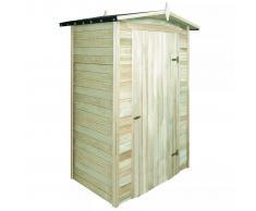 vidaXL Caseta de almacenaje jardín madera pino 150x100x210 cm
