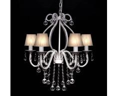 vidaXL Lámpara de araña colgante, candelabro metal con 2300 cristales