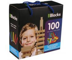 BBlocks Bloques de construcción 100 uds madera multicolor BBLO890099