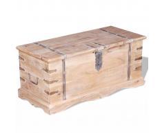 vidaXL Baúl de almacenamiento madera acacia