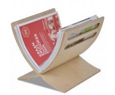 Revistero de madera compra barato revisteros de madera for Revisteros de suelo
