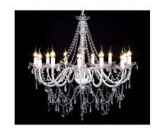 vidaXL Lámpara de araña colgante con 1600 cristales