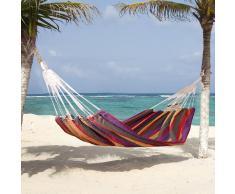Outsunny Hamaca para Colgar en Jardín Piscina Playa o Camping - Multicolor - 70% Algodón - 200x100cm