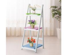 Estanter a en escalera compra barato estanter as en for Escalera madera portatil