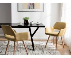 Conjunto de 2 sillas de comedor mostaza CHICAGO