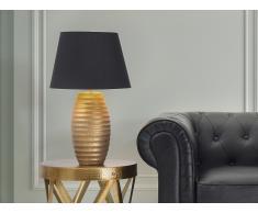 Lámpara de mesa - Pie de cerámica - Color dorado - EBRO